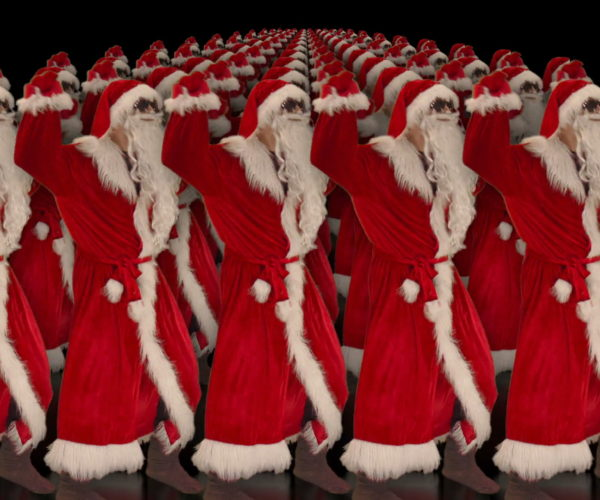 vj video background Army-of-Dancing-Santa-Clauses-chilling-on-rave-isolated-on-black-background-4K-Video-Art-VJ-Footage-1920_003