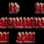 Army-of-Santa-Claus-walking-isolated-on-black-background-Video-Art-4K-Vjing-Footage-1920 VJ Loops Farm