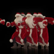 Christmas-Santa-Claus-Dancing-RAVE-Jump-4K-Video-VJ-Footage-1920_007 VJ Loops Farm
