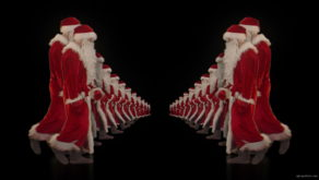 Group-of-Santa-Claus-walking-in-Tunnel-Flow-4K-Video-VJ-Footage-1920_005 VJ Loops Farm