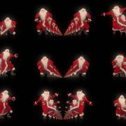 Happy-santa-claus-dancing-tunnel-through-black-background-VJing-Video-Art-Footage-1920 VJ Loops Farm