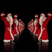 vj video background Santa-Claus-Dance-in-Tunnel-Flight-4K-Video-Art-Vj-Footage-1920_003
