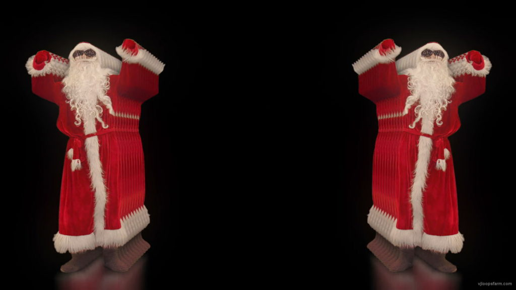 vj video background Santa-Claus-beat-the-soul-in-tunnel-Video-Art-VJ-Footage-1920_003