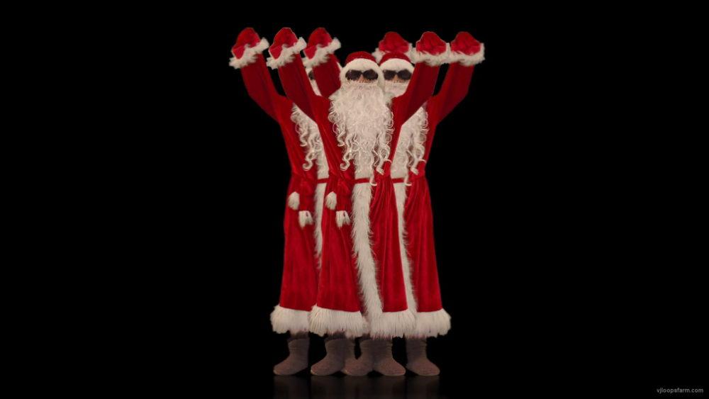 vj video background Santa-Claus-in-black-glasses-celebrates-his-victory-4K-Video-Art-VJ-Footage-1920_003