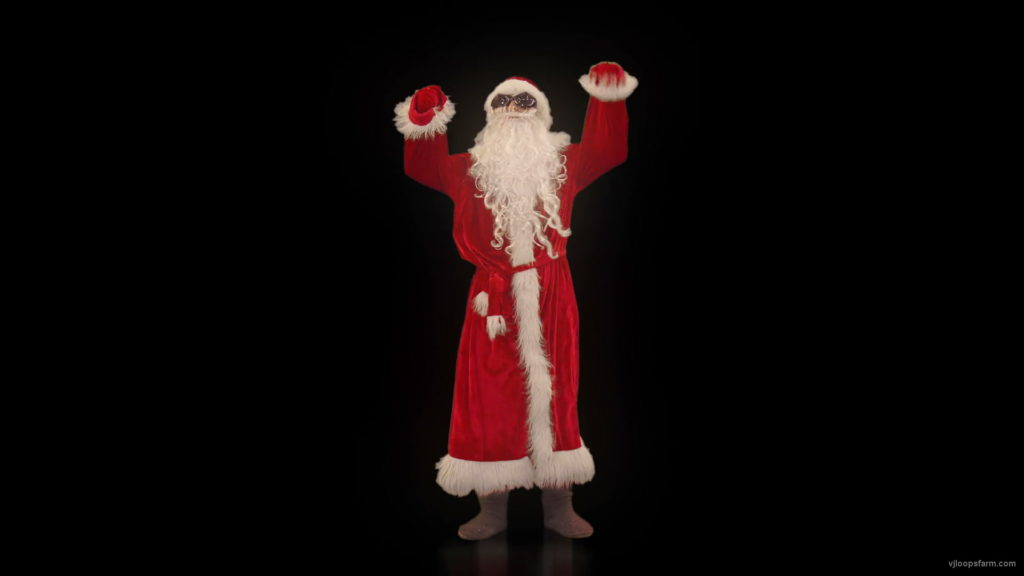vj video background Santa-Claus-is-beating-air-for-EDM-Event-Video-Art-VJ-Footage-1920_003