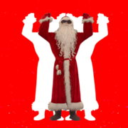 Santa-Claus-making-beats-with-strobe-effect-by-hands-4K-Video-Art-Vj-Footage-1920_004 VJ Loops Farm
