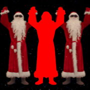 Santa-Claus-making-beats-with-strobe-effect-by-hands-4K-Video-Art-Vj-Footage-1920_005 VJ Loops Farm