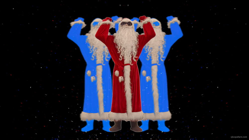 Santa-Claus-making-beats-with-strobe-effect-by-hands-4K-Video-Art-Vj-Footage-1920_009 VJ Loops Farm