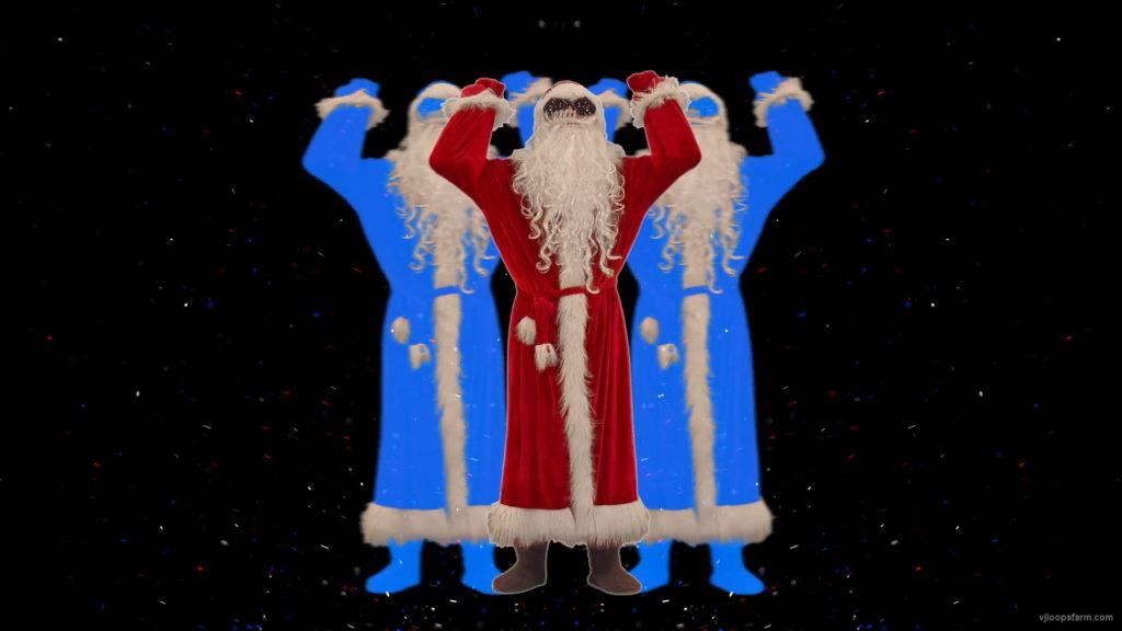 Santa-Claus-making-beats-with-strobe-effect-by-hands-4K-Video-Art-Vj-Footage-1920_009 VJ Loops Farm
