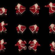 Santa-Claus-on-Rave-Jump-in-tunnel-flow-on-black-background-VJing-Video-Art-Footage-1920 VJ Loops Farm