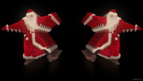 vj video background Santa-Claus-on-Rave-Jump-in-tunnel-flow-on-black-background-VJing-Video-Art-Footage-1920_003