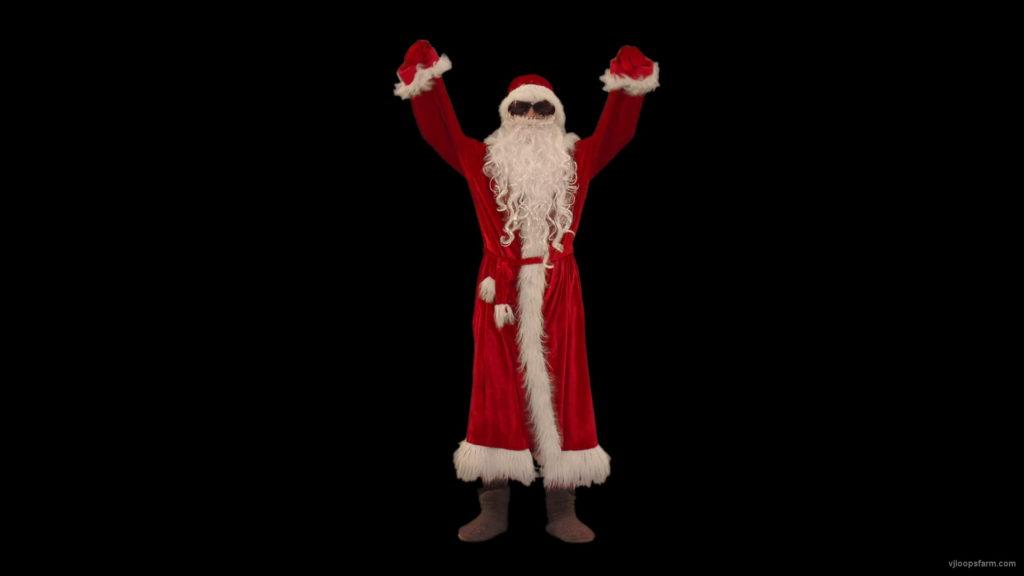 vj video background Single-Santa-Claus-making-EDM-beats-with-hands-Video-Art-4K-VJ-Footage-1920_003