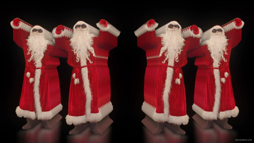 vj video background Three-Beats-by-Santa-Claus-in-the-tunnel-flow-Video-Art-VJ-Footage-1920_003