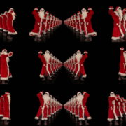 Tunnel-of-Dancing-Santa-Clauses-isolated-on-black-background-4K-Video-Art-VJ-Footage-1920 VJ Loops Farm