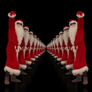 Tunnel-of-Dancing-Santa-Clauses-isolated-on-black-background-4K-Video-Art-VJ-Footage-1920_006 VJ Loops Farm