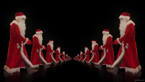 vj video background Twins-of-Santa-Claus-opposite-walking-isolated-on-black-background-Video-Art-4K-Vjing-Footage-1920_003