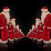 Twins-of-Santa-Claus-opposite-walking-isolated-on-black-background-Video-Art-4K-Vjing-Footage-1920_004 VJ Loops Farm