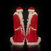 Twins-of-Santa-Claus-opposite-walking-isolated-on-black-background-Video-Art-4K-Vjing-Footage-1920_005 VJ Loops Farm