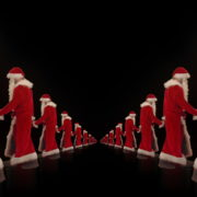 Twins-of-Santa-Claus-opposite-walking-isolated-on-black-background-Video-Art-4K-Vjing-Footage-1920_008 VJ Loops Farm