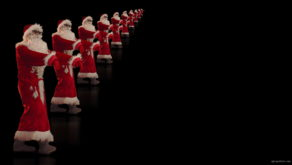 vj video background Zombie-santa-claus-with-staggers-across-black-background-4K-Video-Art-VJ-Footage-1920_003