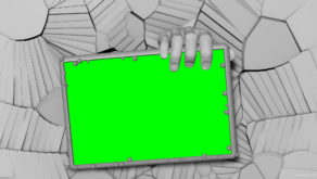 3D-Hand-Showing-green-screen-mockup-template-on-cracked-wall-mapping-loop-fsjuns-1920_008 VJ Loops Farm