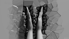 vj video background 3D-hands-appears-from-cracked-wall-and-clap-projection-mapping-loop-vq9dnz-1920_003