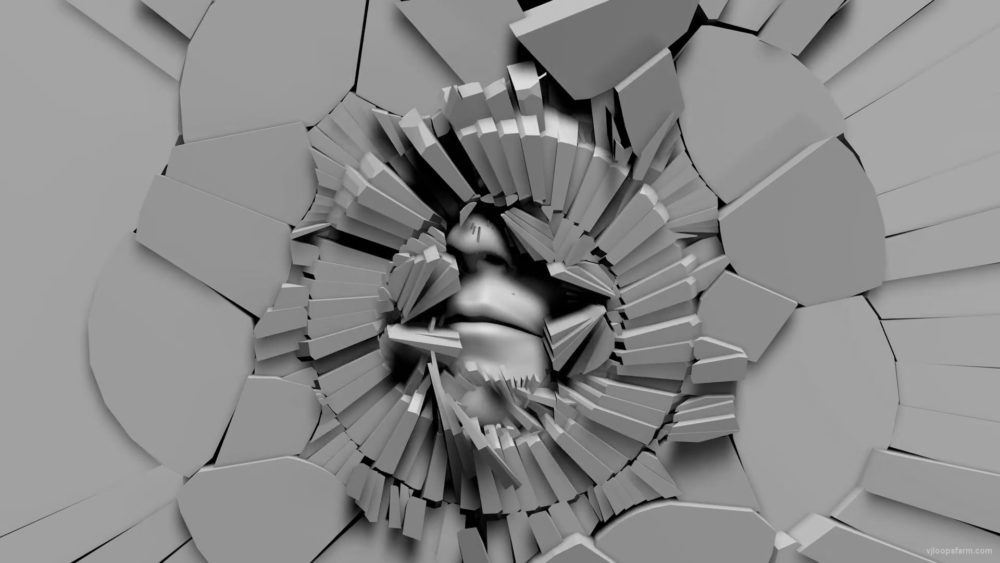 vj video background Creepy-smiling-face-appears-from-radial-cracked-wall-projection-mapping-loop-auxnxj-1920_003