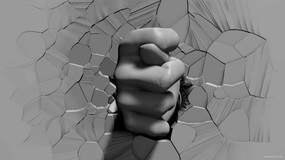 Fig-gesture-hand-sign-appears-from-broken-3D-wall-projection-mapping-loop-vxu2z5-1920_008 VJ Loops Farm