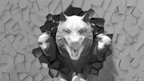 Halloween-Wolf-3D-head-projection-Video-Mapping-Loop-7en9gd-1920_005 VJ Loops Farm
