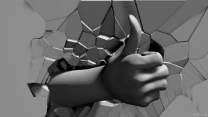 Like-hand-sign-on-fragmented-wall-projection-mapping-loop-mcttk1-1920_005 VJ Loops Farm
