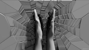 vj video background Mirrored-hands-clap-on-finely-fragmented-wall-3D-mapping-loop-cjwr9c-1920_003