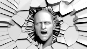 vj video background Screaming-head-appears-from-radial-craked-wall-projection-mapping-loop-vfcjzy-1920_003