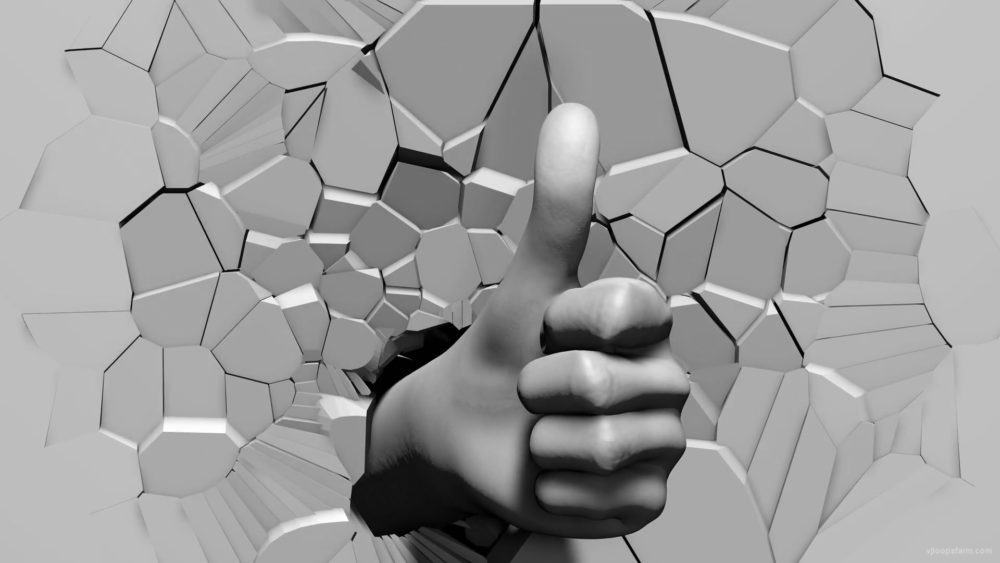 Super-like-gesture-3D-Hand-on-fragmented-wall-projection-mapping-loop-m5qswg-1920_008 VJ Loops Farm