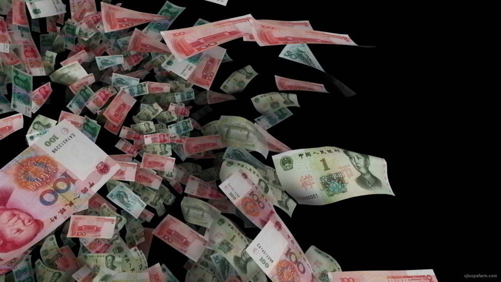 Chinese-yuans-bills-3D-rotating-movement-on-black-background-odreja-1920_006 VJ Loops Farm