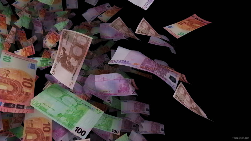 Cloud-of-euro-paper-bills-currency-rotating-on-black-background-lhggap-1920_007 VJ Loops Farm