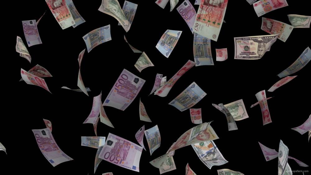 Dollars-yuans-euros-paper-money-falling-down-motion-background-arwaqw-1920_007 VJ Loops Farm
