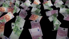 Euro-paper-money-bills-currency-flow-down-on-black-background-horabd-1920_008 VJ Loops Farm