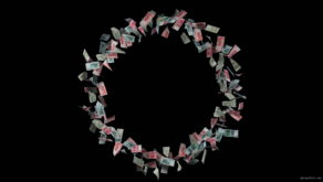 Spinning-circle-of-chinese-yuan-paper-bills-currency-shryjs-1920_009 VJ Loops Farm