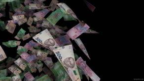 Ukrainian-currency-hrivna-paper-bills-rotating-in-cloud-on-black-background-bsuvma-1920_005 VJ Loops Farm